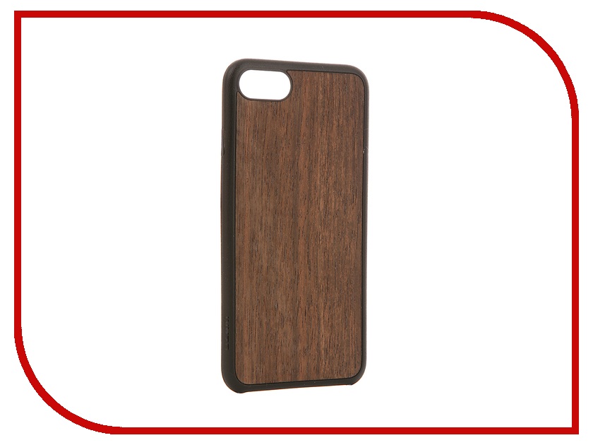 Аксессуар Чехол Ozaki O!Coat 0.3 + Wood для APPLE iPhone 7 Dark Brown OC736EB<br>