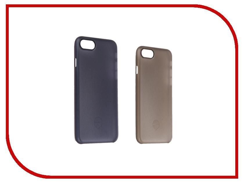 Аксессуар Набор из двух чехлов Ozaki 0.3 Jelly для APPLE iPhone 7 Black / Dark Blue OC720KD<br>
