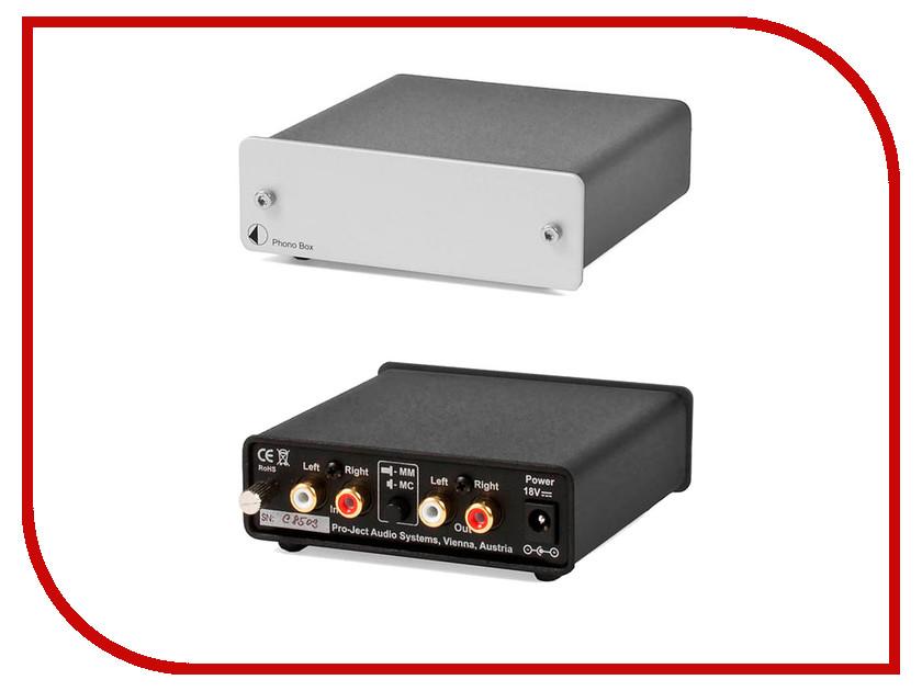 Фонокорректор Pro-Ject ММ/МС PHONO BOX DC Silver