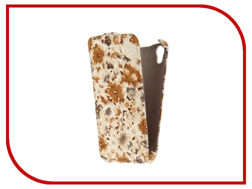 Аксессуар Чехол HTC Desire 626 Armor Milky Brown Flower ARM-HTC626-MLK-BRW-FLW<br>