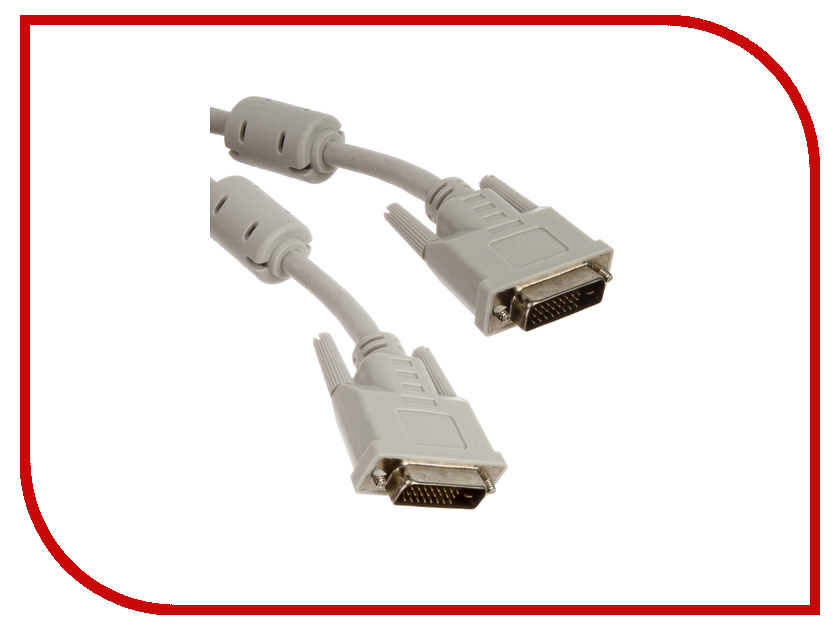 Аксессуар Prolike DVI 1.8m Grey PL-DVI-1,8<br>