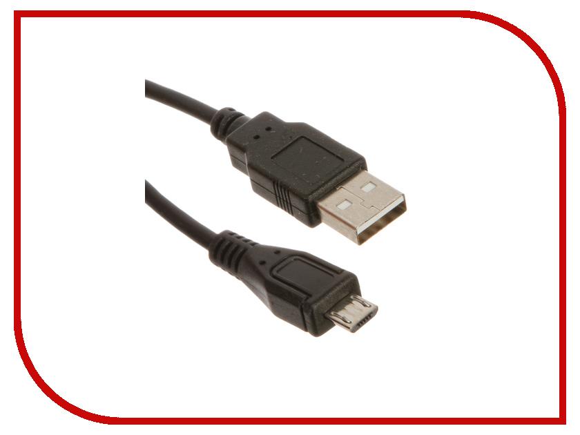 Аксессуар Prolike USB 2.0 Micro 5-pin AM-BM 1m Black PL-MicroUSB2.0-M5P-1<br>