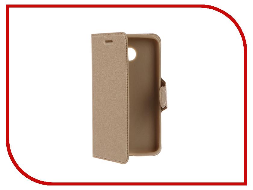 Аксессуар Чехол LG K5 Red Line Book Type Gold<br>