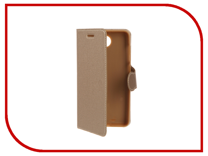Аксессуар Чехол Huawei Honor 5A/Y6II Compact LYO-L21 Red Line Book Type Gold<br>