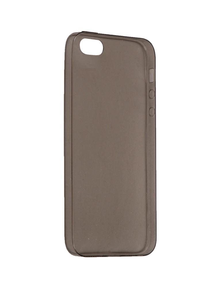 Аксессуар Чехол iBox для APPLE iPhone 5 / 5S / SE Crystal Grey аксессуар чехол для apple iphone 5 5s se ibox blaze pink