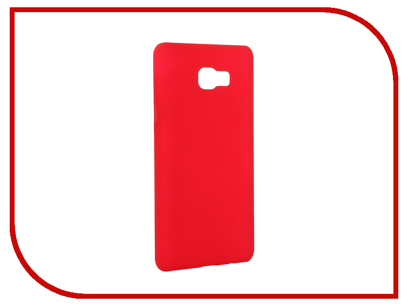 Аксессуар Чехол Samsung Galaxy C7 Nillkin Frosted Shield Red 12387