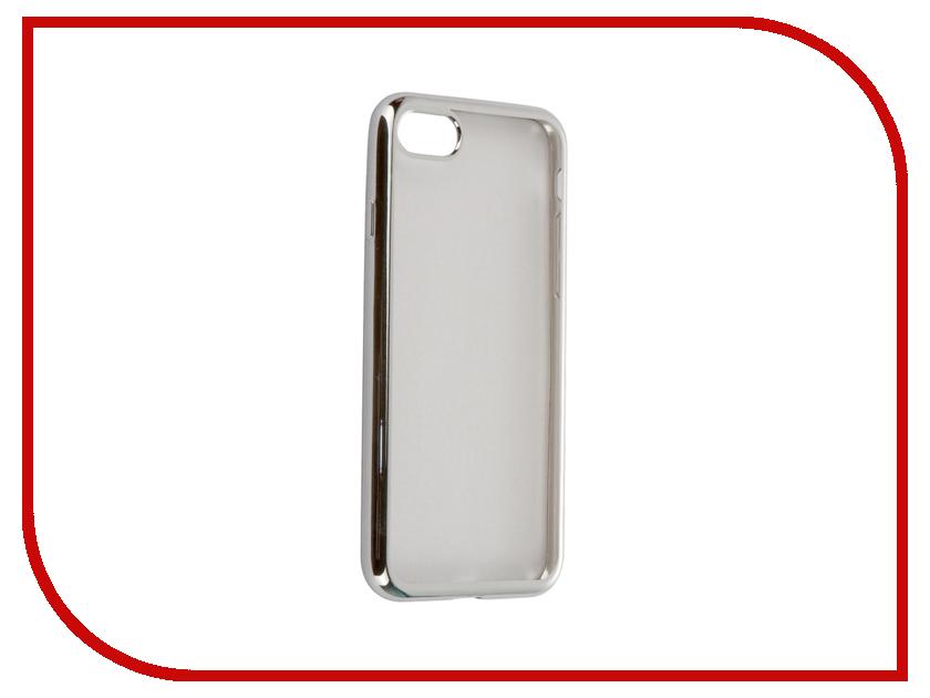 Аксессуар Чехол-накладка Gecko для APPLE iPhone 7 силиконовый Silver SR-G-IP7-WH<br>