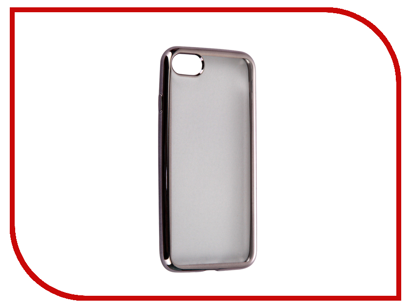 Аксессуар Чехол-накладка Gecko для APPLE iPhone 7 силиконовый Black SR-G-IP7-BL<br>