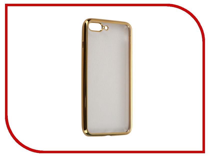 Аксессуар Чехол-накладка Gecko для APPLE iPhone 7 Plus силиконовый Gold SR-G-IP7PL-GOLD<br>