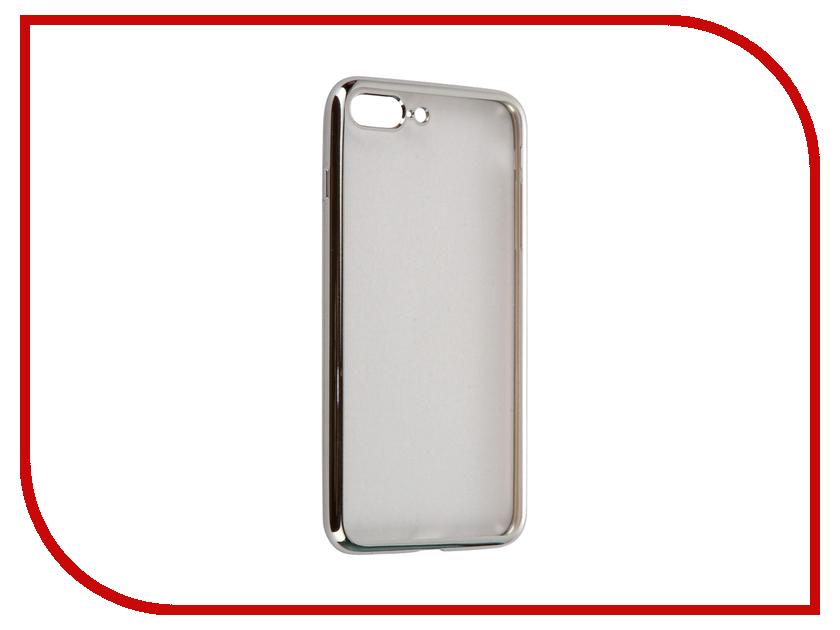 Аксессуар Чехол-накладка Gecko для APPLE iPhone 7 Plus силиконовый Silver SR-G-IP7PL-WH<br>