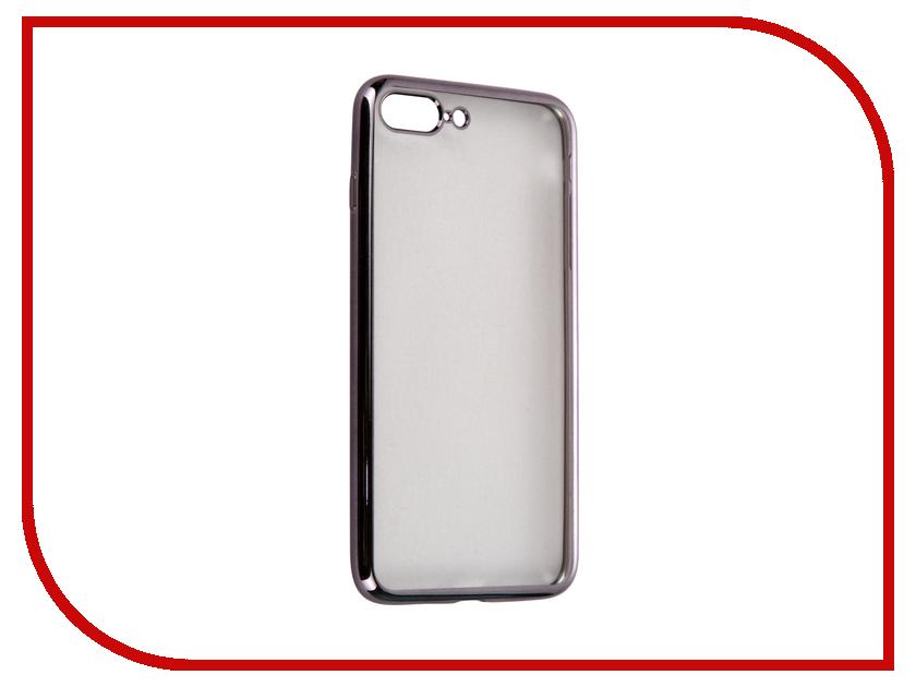 Аксессуар Чехол-накладка Gecko для APPLE iPhone 7 Plus силиконовый Black SR-G-IP7PL-BL<br>