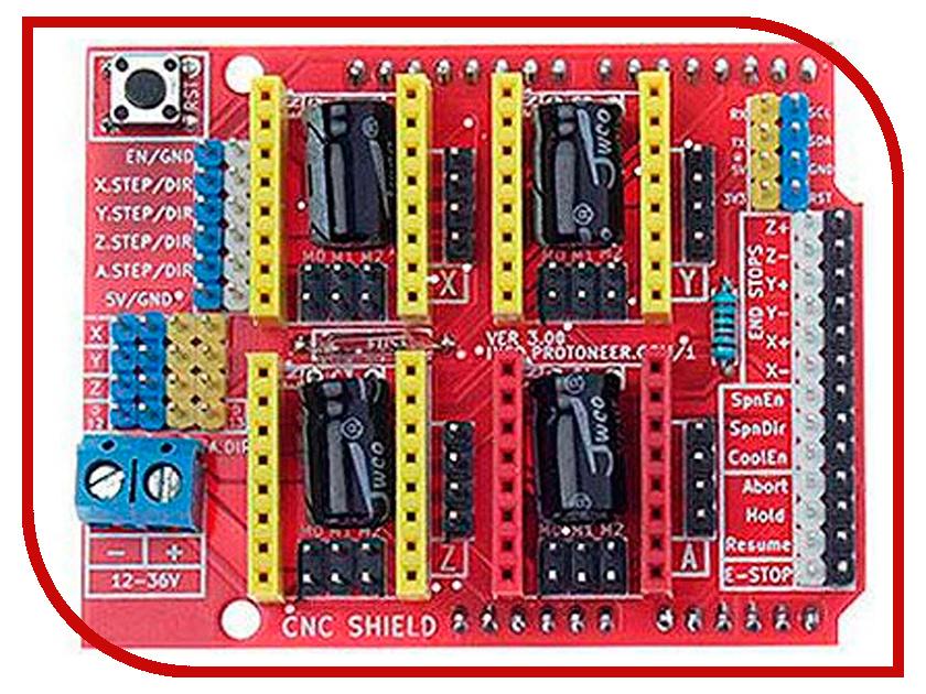 Конструктор Модуль Радио КИТ RA058 - Arduino UNO CNC Shield v3.0 конструктор модуль маломощных ключей радио кит rs280b 1m