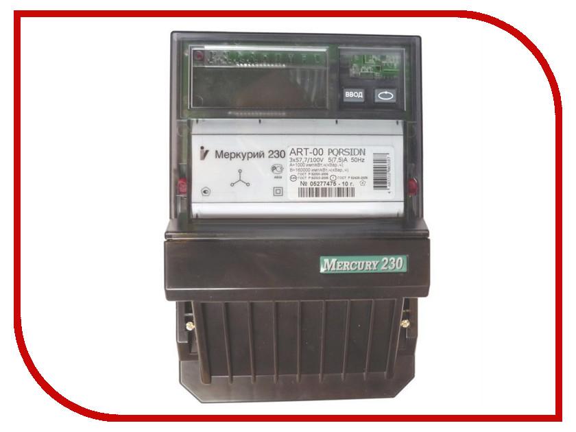 Счетчик электроэнергии Меркурий 230 ART-00 PQRSIDN 57.7/100В