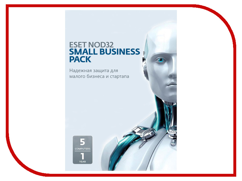 Программное обеспечение ESET NOD32 Small Business Pack Newsale for 5 user NOD32-SBP-NS-CARD-1-5<br>