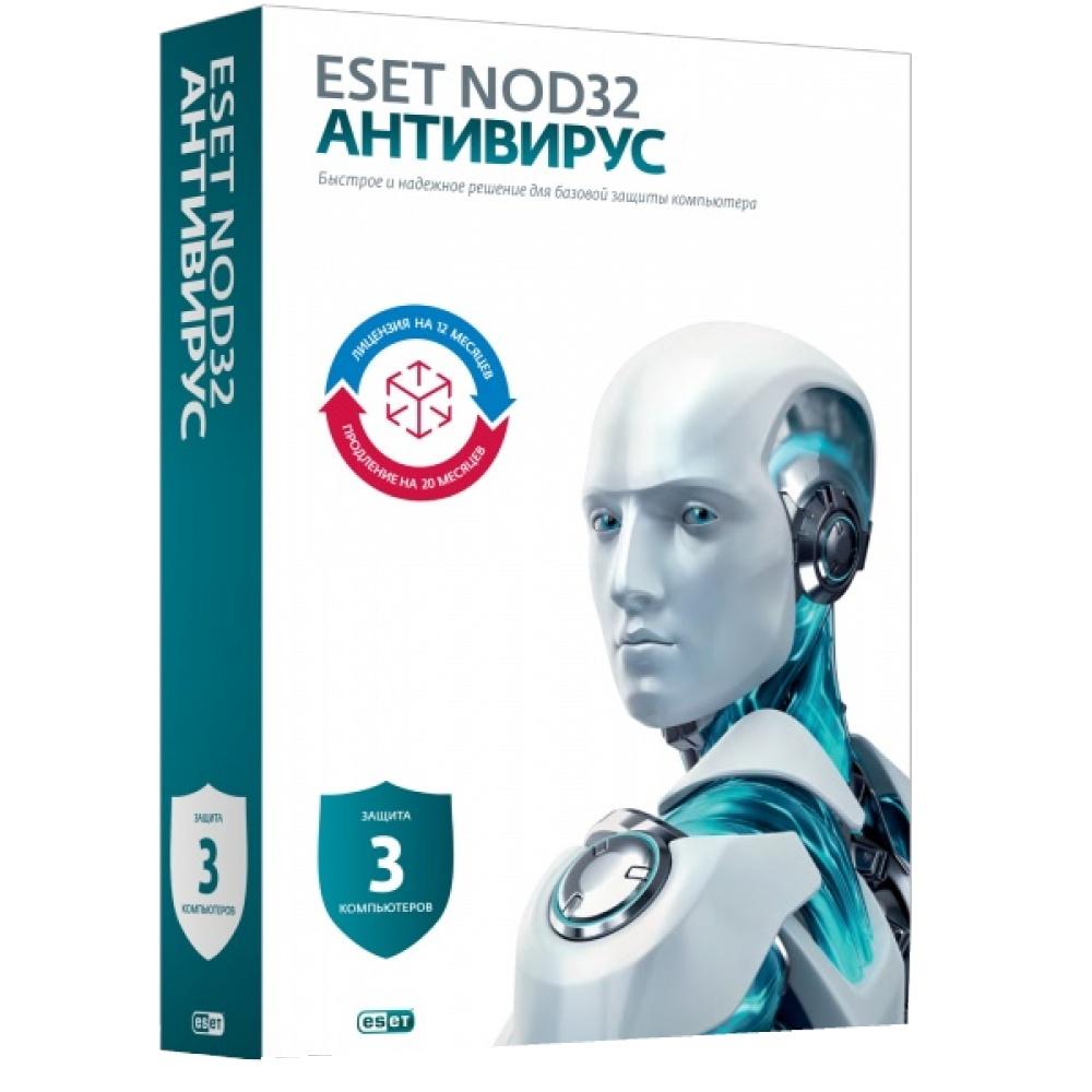 Программное обеспечение ESET NOD32 продление 20 месяцев или новая 1 год/3 ПК NOD32-ENA-2012RN-BOX-1-1