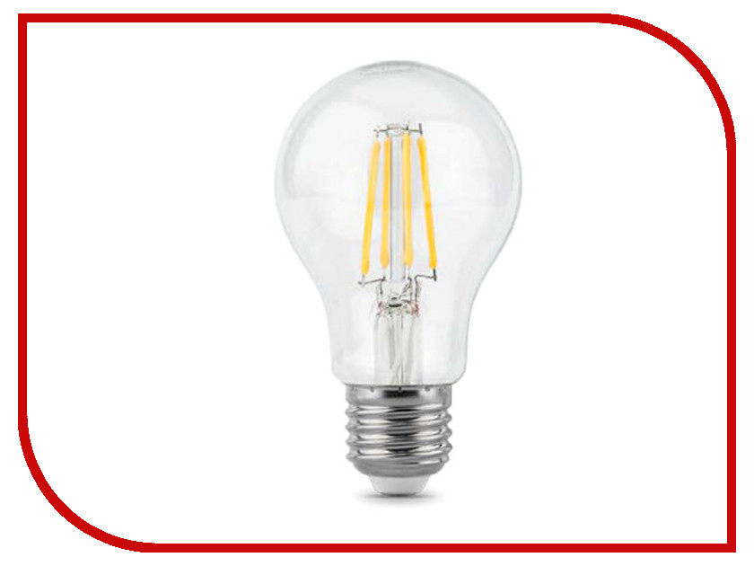 Лампочка Gauss LED Filament A60 E27 6W 2700К 102802106 цена