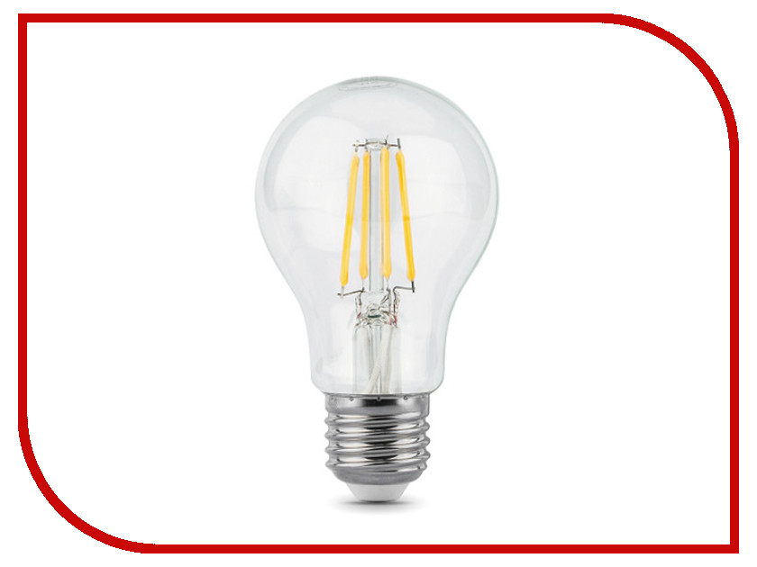 Лампочка Gauss LED Filament A60 E27 6W 4100К 102802206 цена