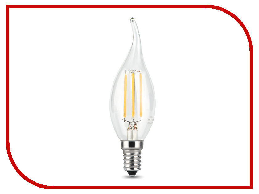 Лампочка Gauss LED Filament Candle Tailed E14 5W 2700K 104801105 лампочка gauss led filament candle tailed e14 5w 2700k 104801105