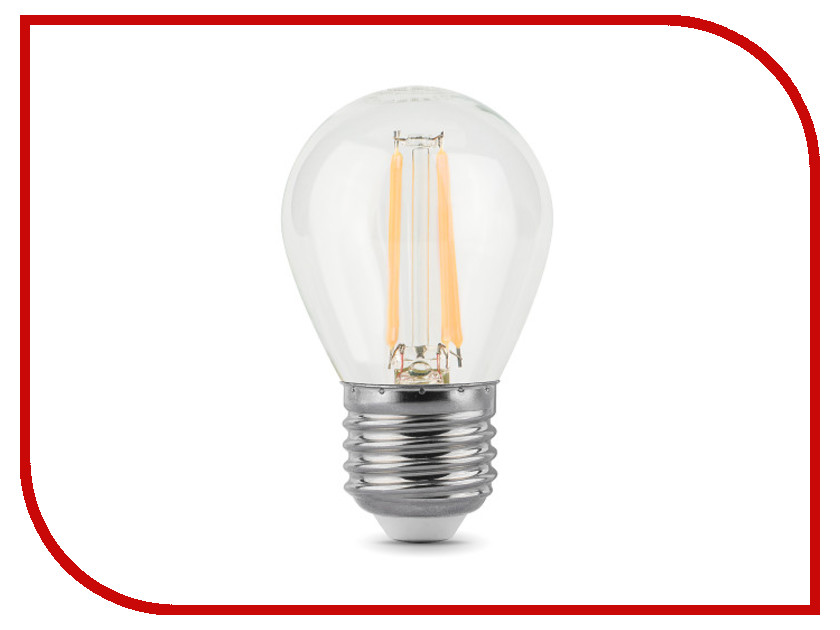 Лампочка Gauss LED Filament Globe E27 5W 2700K 105802105 лампочка gauss led globe crystal clear 4w e27 2700k 105202104