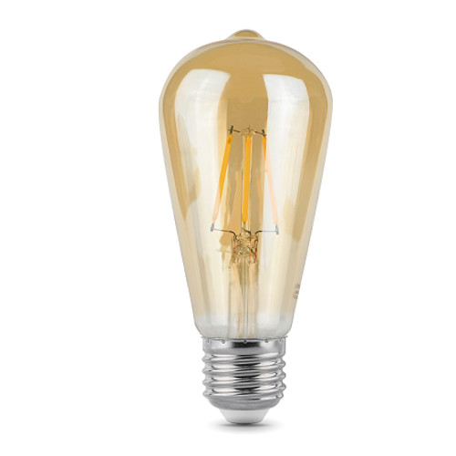 Лампочка Gauss LED Filament E27 ST64 6W Golden 2400К 102802006