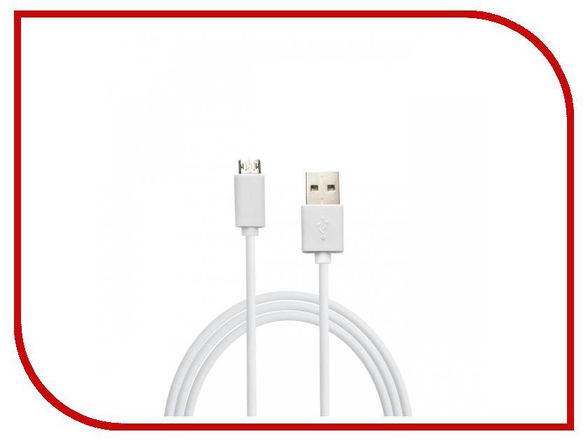 Аксессуар Smarterra USB - Micro USB 1m White STR-MU003 аксессуар smarterra str al001m black