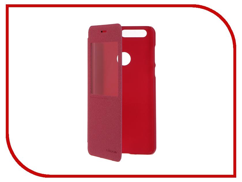 Аксессуар Чехол Huawei Honor 8 Nillkin Sparkle Red 12316<br>