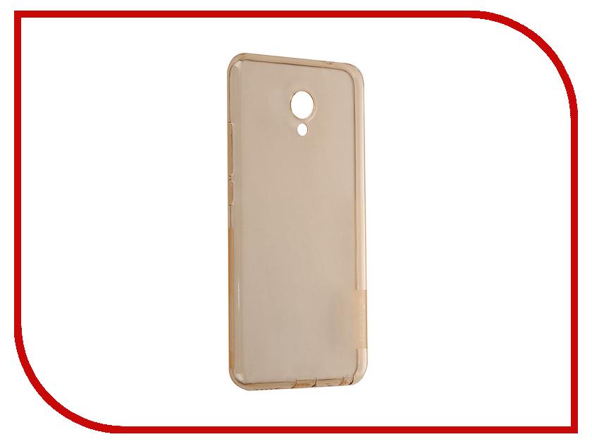 Аксессуар Чехол Meizu MX6 Nillkin Nature TPU 0.6mm Transparent-Gold 12424