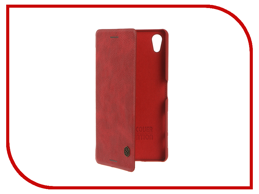 Аксессуар Чехол Sony Xperia X Performance Nillkin QIN Red 12337<br>