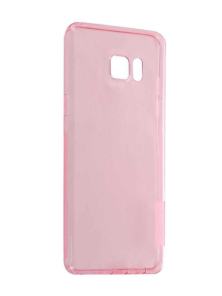 Аксессуар Чехол Nillkin для Samsung Galaxy Note 7 Nature TPU 0.6mm Transparent-Pink 12432