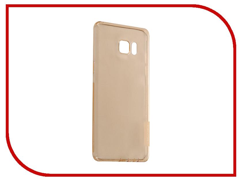 Аксессуар Чехол Samsung Galaxy Note 7 Nillkin Nature TPU 0.6mm Transparent-Gold 12431 аксессуар чехол samsung galaxy a3 2017 cojess tpu 0 3mm transparent