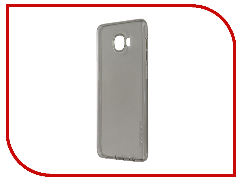 Аксессуар Чехол Samsung Galaxy C7 Nillkin Nature TPU 0.6mm Transparent-Black 12428<br>