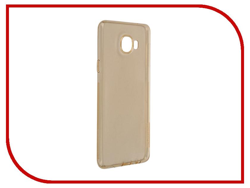 Аксессуар Чехол Samsung Galaxy C7 Nillkin Nature TPU 0.6mm Transparent-Gold 12427<br>