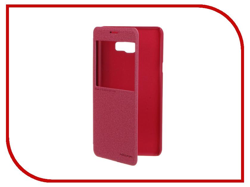 Аксессуар Чехол Samsung Galaxy C7 Nillkin Sparkle Red 12327<br>