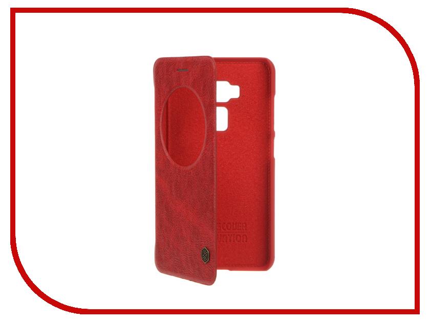 Аксессуар Чехол ASUS ZenFone 3 ZE552KL Nillkin QIN Red 12308<br>