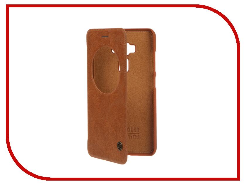 Аксессуар Чехол ASUS ZenFone 3 ZE552KL Nillkin QIN Brown 12307<br>