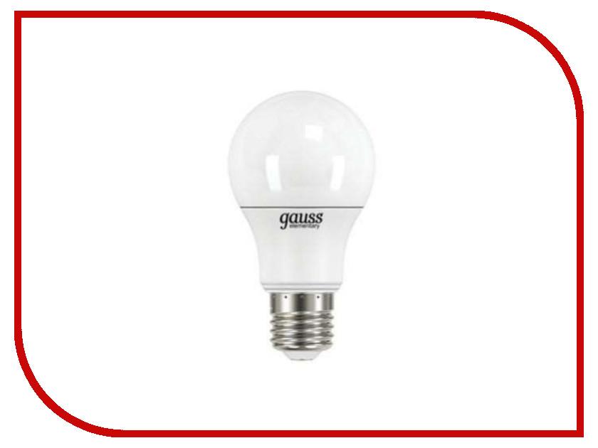 Лампочка Gauss Elementary A60 7W E27 2700K 23217А лампочка rev led a60 e27 7w 2700k premium filament теплый свет 32353 2