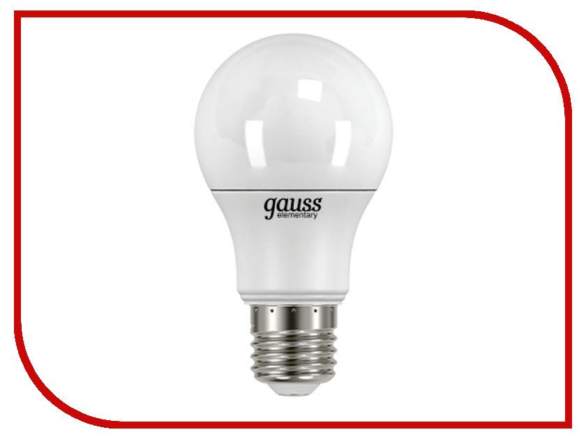 Лампочка Gauss Elementary A60 7W E27 4100K 23227А лампочка krez light 7w e27 4bm wh125 01
