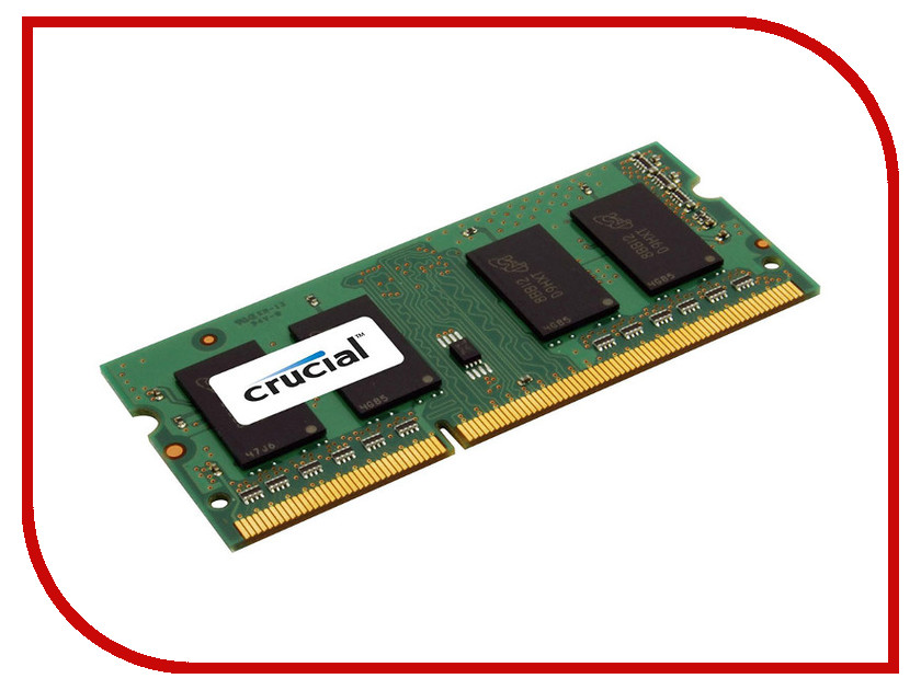 Модуль памяти Crucial DDR3L SO-DIMM 1600MHz PC3-12800 CL11 - 2Gb CT25664BF160BJ