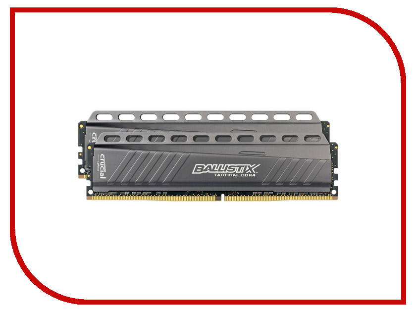 Модуль памяти Crucial Ballistix Tactical DDR4 UDIMM 2666MHz PC4-21300 - 16Gb KIT (2x8Gb) BLT2C8G4D26AFTA