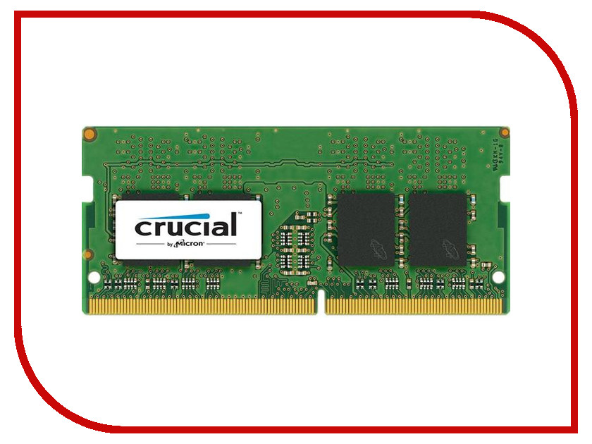 Модуль памяти Crucial DDR4 SO-DIMM 2133MHz PC4-17000 CL15 - 4Gb CT4G4SFS8213 память ddr4 kingston kvr21r15s8k4 16 4х4gb dimm ecc reg pc4 17000 cl15 2133mhz