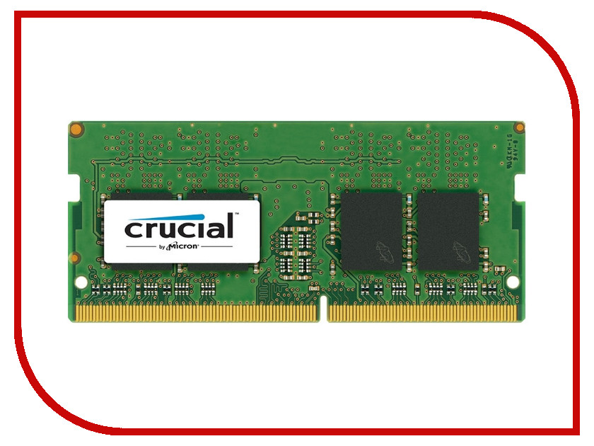 Модуль памяти Crucial DDR4 SO-DIMM 2400MHz PC4-19200 CL17 - 4Gb CT4G4SFS824A<br>
