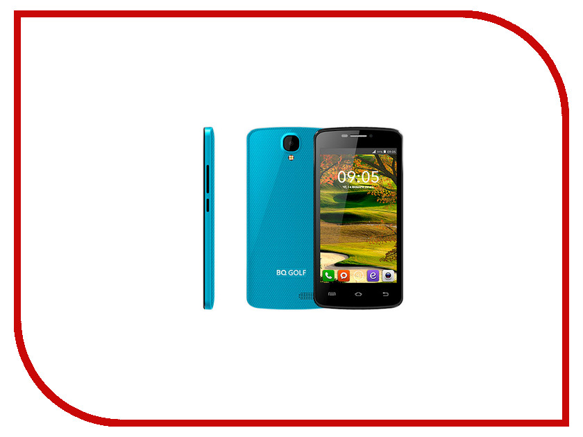 Сотовый телефон BQ BQS-4560 Golf Blue bq mobile bq bqs 5050 strike selfie розовый
