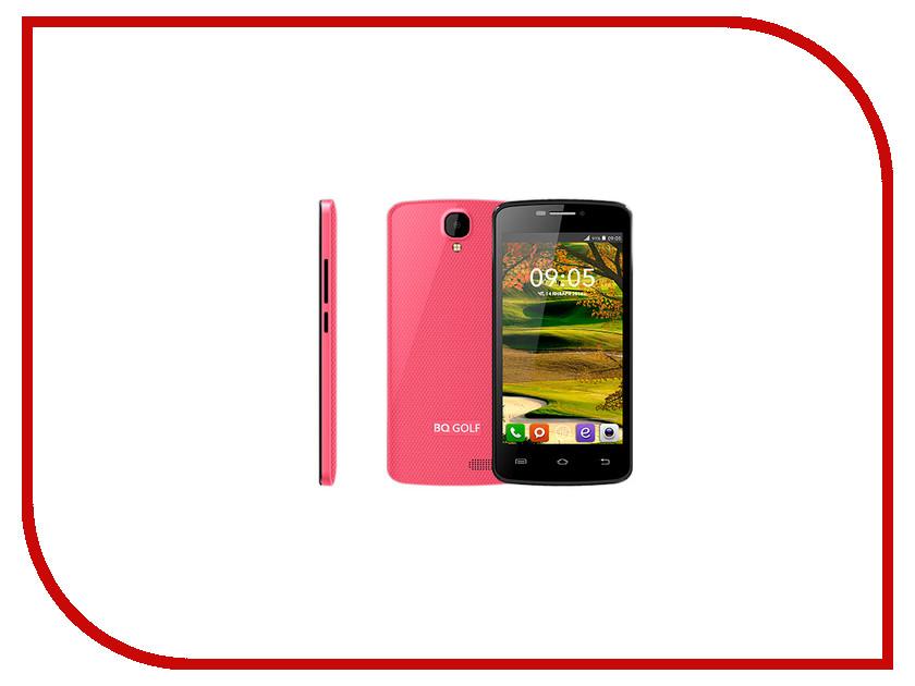 Сотовый телефон BQ BQS-4560 Golf Pink сотовый телефон bq bqs 5070 magic lte brown