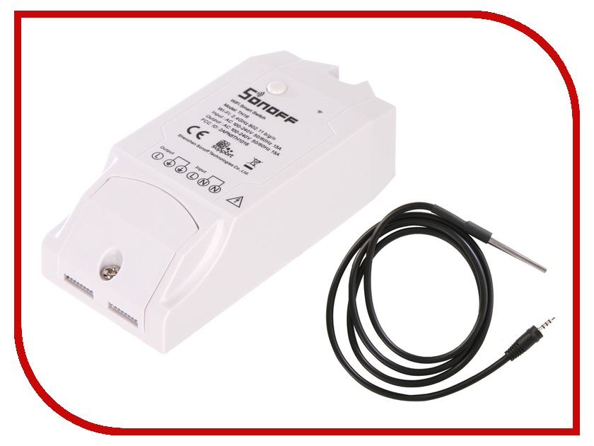 Выключатель Sonoff TH16A + датчик TH в комплекте выключатель sonoff touch us