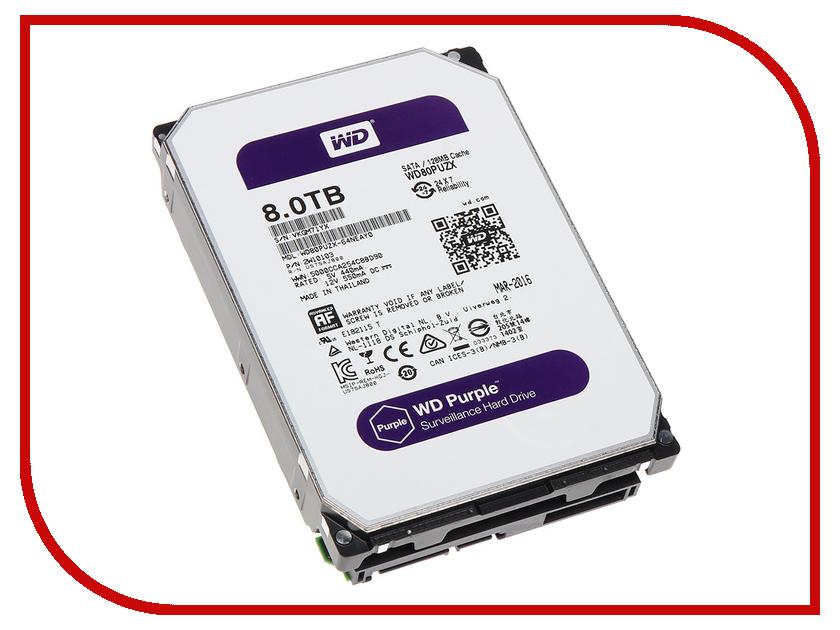 Жесткий диск 8Tb - Western Digital Purple WD80PUZX жесткий диск 4tb western digital purple wd40purx