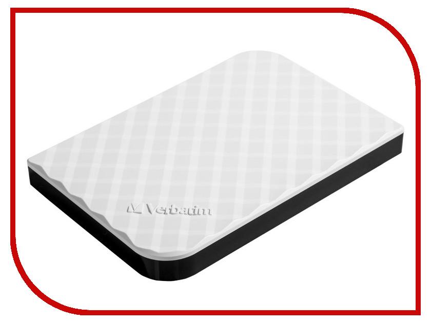 Жесткий диск Verbatim 1Tb USB 3.0 White 53206