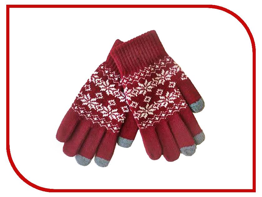 Теплые перчатки для сенсорных дисплеев Экспедиция UZ-10 Red