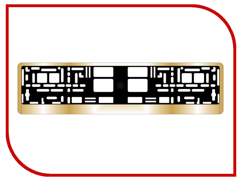 Аксессуар AVS RN-13 Gold A78488S - рамка под номерной знак