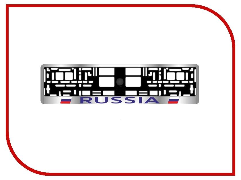 Рамка номерного знака AVS RN-02 Russia A78104S рамка номерного знака avs rn 01 black a78109s