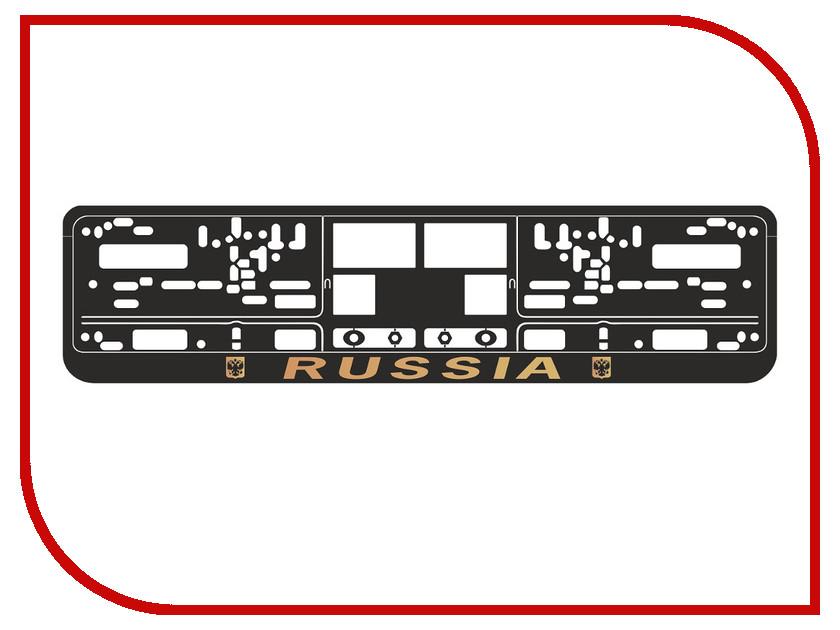 Аксессуар AVS RN-09 Russia Black-Gold A78112S - рамка под номерной знак